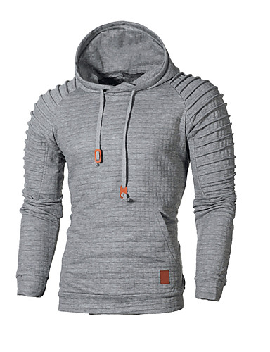 6704746b458 Men s Basic Long Sleeve Hoodie - Solid Colored Hooded Dark Gray XXXL