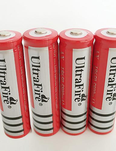 povoljno Vanjske baterije i više-UltraFire BRC baterija emiteri Može se puniti Baterijska svjetiljka Bike Light Prednja svjetla Lov Penjanje Kampiranje / planinarenje / Speleologija 4kom
