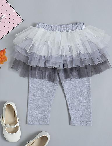 Dziecko Dla dziewczynek Podstawowy / Moda miejska Codzienny / Wyjściowe Solidne kolory Bawełna / Spandeks Spodnie Szary
