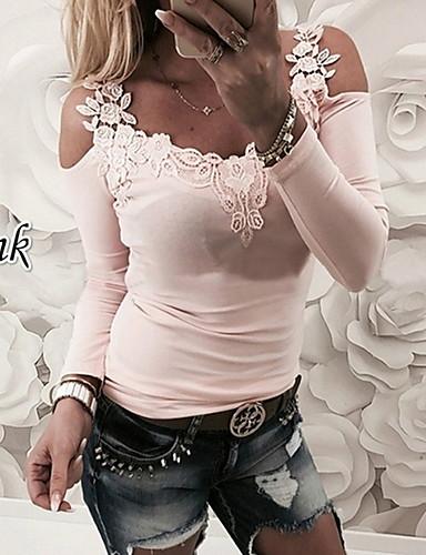 olcso Női felsők-női eu   us méretű méretű póló - kerek ef5adb8a02