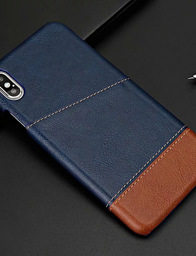 Case For Apple iPhone XR / iPhone XS Max Card Holder Back Cover Solid Colored Hard PU Leather for iPhone XS / iPhone XR / iPhone XS Max