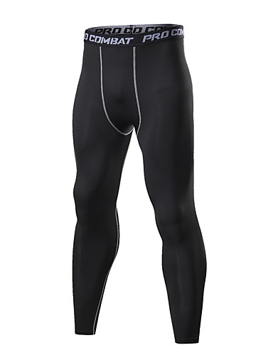 cheap Compression Clothing-Men's Compression Pants Compression Base layer Tights Bottoms Plus Size Breathable Sweat-wicking Comfortable Black Cotton Winter Road Bike Mountain Bike MTB Basketball Stretchy / Road Bike Cycling
