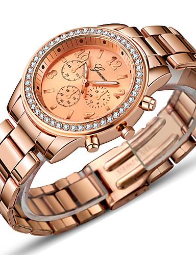 e738679b1618 Mujer Reloj de Vestir Reloj de Pulsera Relojes de Oro Cuarzo Acero  Inoxidable Plata   Dorado   Oro Rosa 30 m Bonito ...