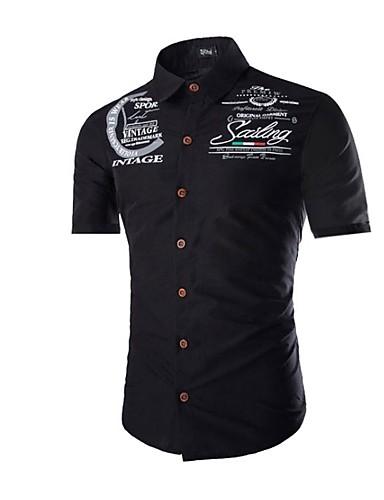 9925366627 Hombre Camisa Letra Negro L
