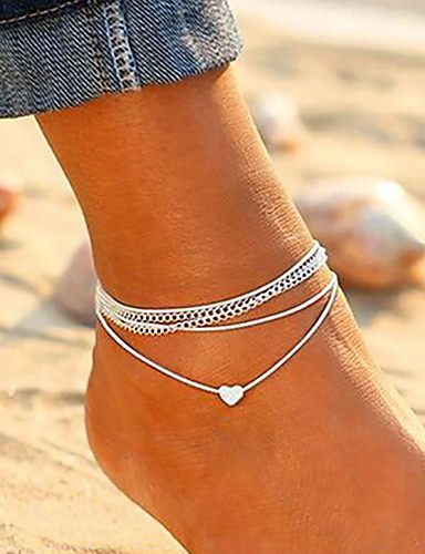 abordables Joyas de Moda-Mujer Legierung Bracelet de cheville - Moda