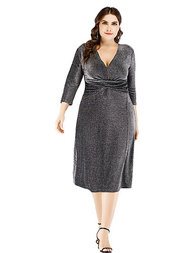 70ddfb58e11b Γυναικεία Βασικό Θήκη Φόρεμα - Μονόχρωμο