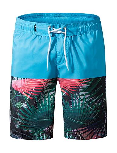 voordelige Herenondergoed & Zwemkleding-Heren Grote maten Licht Blauw Marine Blauw Zwembroek Slips, shorts en broeken Zwemkleding - Geometrisch XXXXL XXXXXL XXXXXXL Licht Blauw