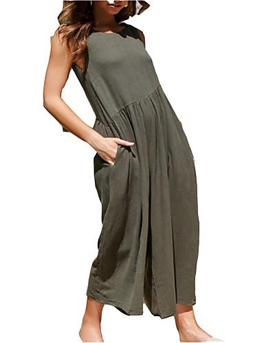 Mulheres Solto balanço Vestido Com Alças Longo