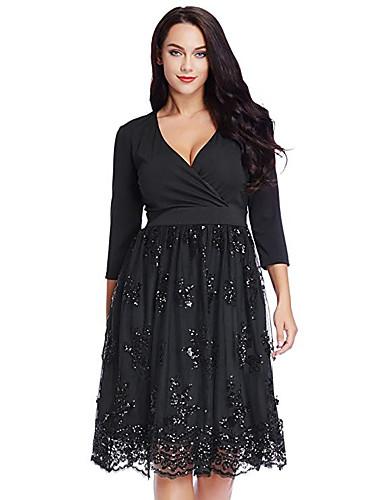 3571147648d3 Γυναικεία Βίντατζ Κομψό Little Black Φόρεμα Πούλιες Ως το Γόνατο