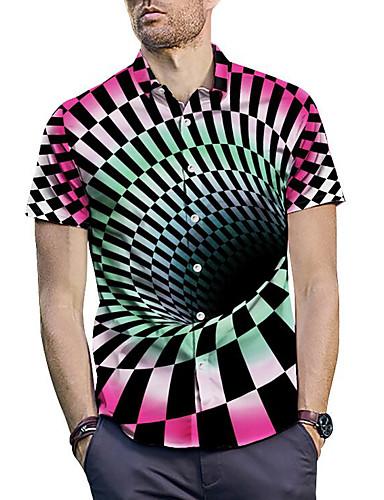 cheap Men's Shirts-Men's Shirt - Check Print