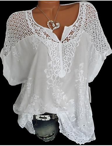 povoljno Majica-Majica Žene Jednobojni Izrezati Crn