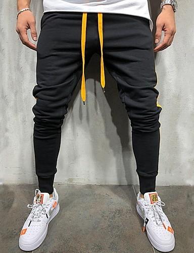 男性用 ストリートファッション EU / USサイズ スウェットパンツ パンツ - レタード グリーン