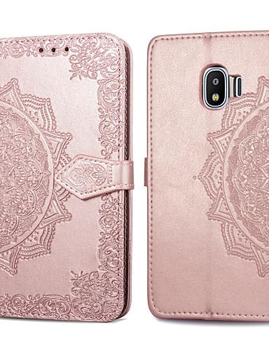 Etui Käyttötarkoitus Samsung Galaxy J2 PRO 2018 Korttikotelo / Flip Suojakuori Yhtenäinen Kova PU-nahka