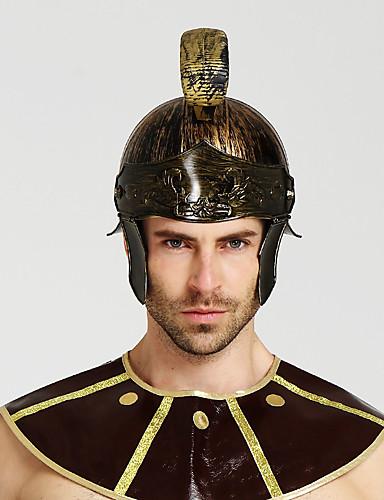 halpa Cosplay ja rooliasut-Gladiaattori Antiikin Rooma Kypärä Miesten Asu Hat Kultainen / Hopea+harmaa / Punainen+kultainen Vintage Cosplay Halloween Naamiaiset