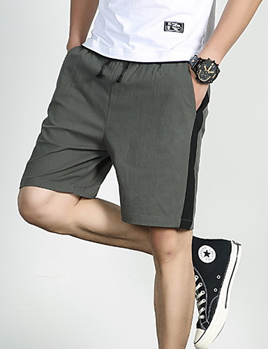 cheap Men's Pants & Shorts-Men's Street chic Chinos Pants - Solid Colored Black