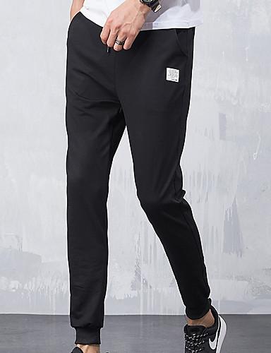 Ανδρικά Βασικό Chinos Παντελόνι - Μονόχρωμο Μαύρο