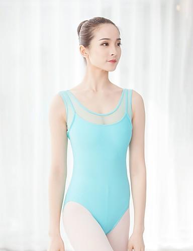 preiswerte Ballettbekleidung-Ballett Turnanzug Damen Training / Leistung Chinlon / Elastan Spitze / Klett Ärmellos Gymnastikanzug / Einteiler