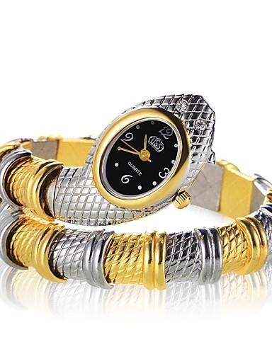 Kadın's Bilezik Saat altın saat Quartz Gümüş / Altın Rengi Yeni Dizayn Gündelik Saatler Analog Vintage Moda - Altın Gümüş Altın / Gümüş / Siyah Bir yıl Pil Ömrü