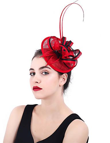 abordables Chapeau & coiffure-Filet / Mélange Lin / Coton Fascinators / Fleurs / Coiffe avec 1 Pièce Mariage / Fête / Soirée Casque