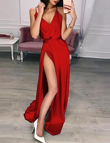 abordables Hauts pour Femme-Le maillot de corps Femme, Couleur Pleine Licou Slim Violet