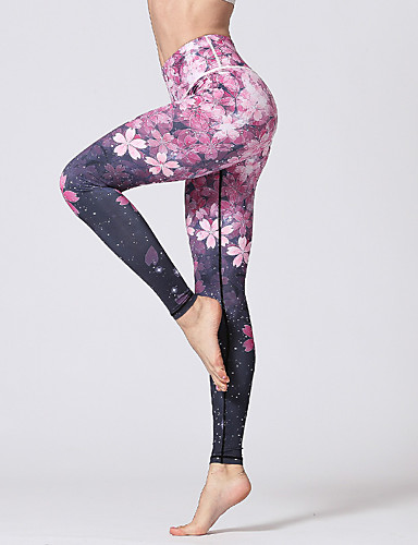 a0d08d8de6d12 Women's Yoga Pants Blue Light Blue Lilac Sports Fashion Elastane Tights  Leggings 3/4 Capri Pants Fitness Gym Workout Activewear Moisture Wicking  Soft ...