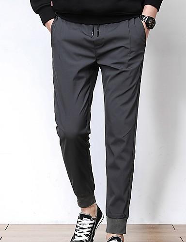 cheap Men's Pants & Shorts-Men's Basic Chinos Pants - Solid Colored Black