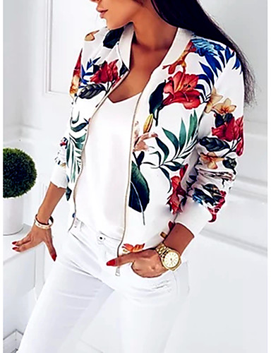 hesapli Kadın Blazerları ve Ceketleri-Kadın's Salaş - Ceket Suits Desen, Grafik Havuz L