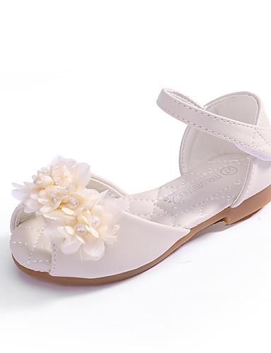 19823aa6a7a88 Fille Microfibre Sandales Enfant en bas âge (9m-4ys) / Petits enfants (4-7  ans) Confort / Chaussures de Demoiselle d'Honneur Fille Fleur Rose dragée  clair ...