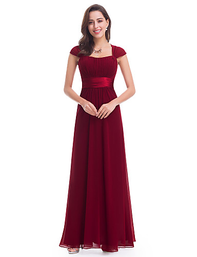 5779a82a31b A-Line Straps Chiffon Bridesmaid Dress with Pleats by LAN TING Express