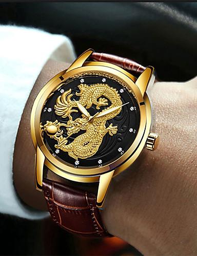 50229354d رجالي ساعة فستان كوارتز جلد بني 30 m مقاوم للماء تصميم جديد ساعة كاجوال  مماثل ترف كلاسيكي - ذهبي أبيض أسود