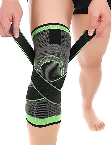 cheap Running & Trail-Knee Brace Knee Sleeve for Basketball Running Fitness Moisture Wicking Compression Stretchy Adjustable Unisex Nylon Lycra Spandex 1 pc Sports & Outdoor Green