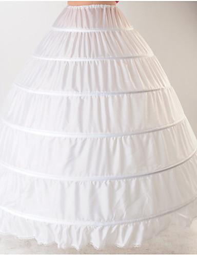 preiswerte Petticoat-Braut 50er Mehrschichtig Kostüm Klassische / Traditionelle Lolita Damen Minimantel Krinoline Weiß Vintage Cosplay Baumwolle Hochzeit Party Prinzessin