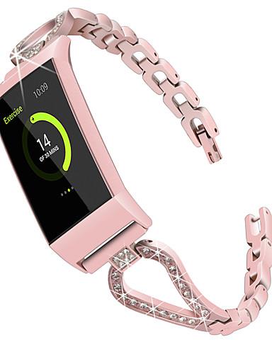 Watch Band varten Fitbit Charge 3 Fitbit Moderni solki / Korudesign Ruostumaton teräs Rannehihna
