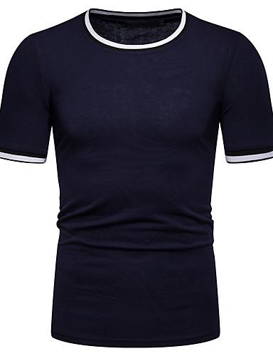 Hombre Camiseta Bloques Gris Oscuro L