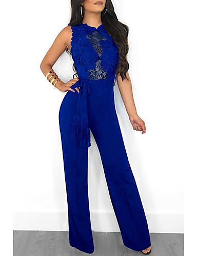 60bfaca213 Mulheres Kentucky Derby Moda de Rua Preto Azul Marinha Vinho Macacão