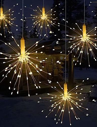 billige Festival-fyrverkeri lys sammenleggbar bukett form ledet streng dekorative fe lyser for krans patio bryllup fest jul lys