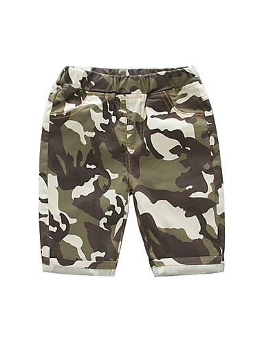 Děti Chlapecké Základní / Šik ven Jednobarevné / Barevné bloky Patchwork Bavlna Šortky Armádní zelená