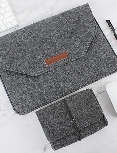 luonnollinen villa tuntui kannettavan tietokoneen kotelon suojapussista ja virtalähteestä yhteensopivalla 11 - 15 tuuman MacBook Pro MacBook Air kannettavalla harmaalla mustalla