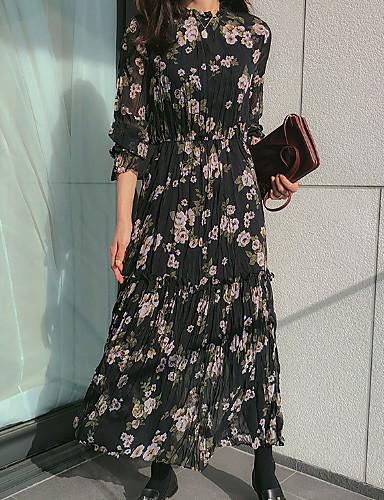 kadın maksi salıncak elbise beyaz siyah gri bir boyut
