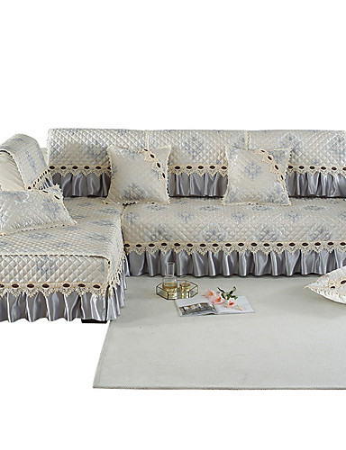cheap Room-Sofa Cushion Romantic / Classic / Contemporary Jacquard / Embossed / Quilted Cotton / Polyester / Cotton Blend Slipcovers