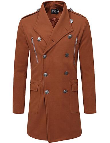 ab9cc1d255 Χαμηλού Κόστους Ανδρικά μπουφάν και παλτό-Ανδρικά Καθημερινά Φθινόπωρο   amp  Χειμώνας Μακρύ Καμπαρντίνα