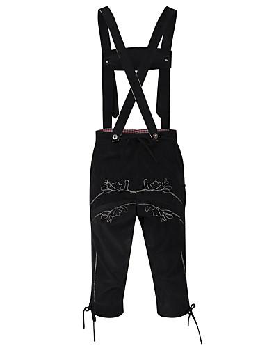 5ee909b895e7 Men's Street chic Beer Festival Oktoberfest Costume Lederhosen Chinos Pants  - Solid Colored Embroidered Brown Black L XL XXL