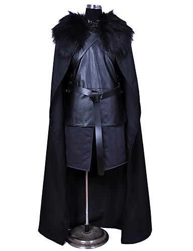 halpa Cosplay ja rooliasut-Jon Snow Cosplay-Asut Asut Naamiaisasu Miesten Poikien Elokuva Cosplay Cosplay Halloween Musta Liivi Hame Vyö Halloween Karnevaali Masquerade Polyesteria / Viitta