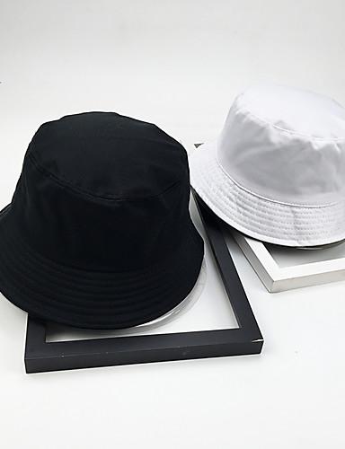 8b1f7aee1cba4c Unisex Basic Polyester Floppy Hat-Solid Colored All Seasons White Black
