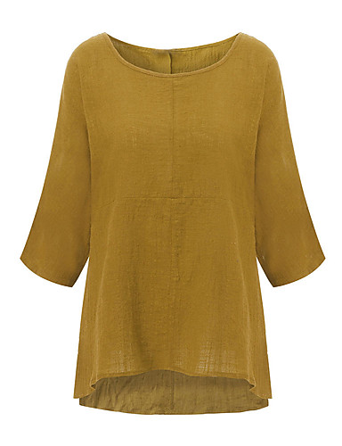 2019 Moda T-shirt Per Donna Collage, Tinta Unita Viola #07321617 Lieve E Dolce