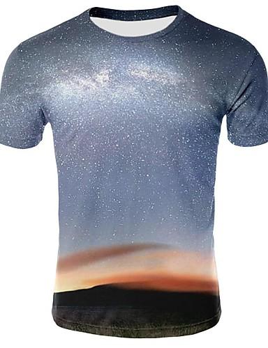 100% Vero T-shirt Per Uomo Con Stampe, Cielo Stellato - Monocolore - 3d Nero Xxl #07315903