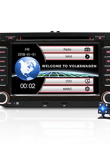 povoljno Auto elektronika-JUNSUN 2531-S 7 inch 2 Din Windows CE U-crtica DVD player / Car MP5 Player / Auto MP4 Player GPS / MP3 / Ugrađeni Bluetooth za Volkswagen / Škoda / Sjedalo Mini USB podrška AVI / WMV / ASF MP3 / WMA