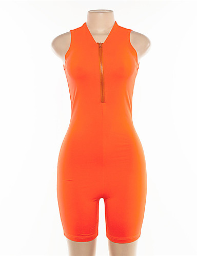 f5745beb0d Women's Front Ziper Yoga Suit Romper Workout Jumpsuit Sports Color Block Bodysuit  Yoga Running Fitness Sleeveless Activewear Lightweight Breathable Quick ...