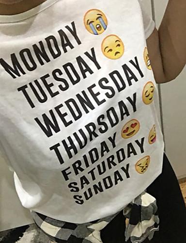 Kadın's Tişört Desen, Geometrik Beyaz