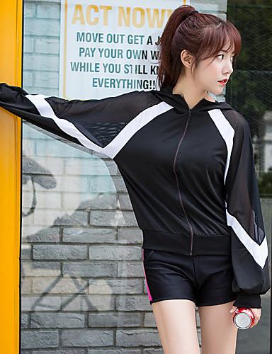 f312871f1 رخيصةأون الركض و المسار-مل 3pcs نسائي بقع بدلة رياضية أسود / أبيض أسود /